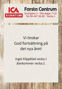 ICA Kvantum-katalog i Stockholm ( Går ut imorgon )