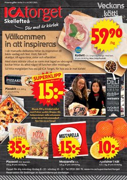 Matbutiker erbjudanden i ICA Supermarket katalogen i Skellefteå ( Går ut idag )