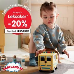 Erbjudanden från Leksaker och Barn i Babyland ( Publicerades igår)