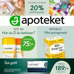 Erbjudanden från Apotek och Hälsa i Apoteket ( Publicerades idag)
