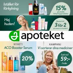 Erbjudanden från Apotek och Hälsa i Apoteket ( 9 dagar kvar)