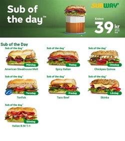 Subway-katalog ( Går ut imorgon )