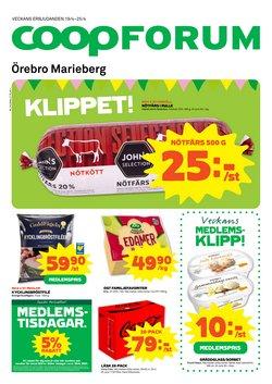 Matbutiker erbjudanden i Coop Forum katalogen i Örebro ( Publicerades igår )
