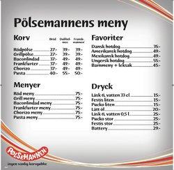 Erbjudanden från Restauranger och Kaféer i Pölsemannen ( 7 dagar kvar)