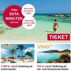 Erbjudanden från Resor i Ticket.se ( 3 dagar kvar)