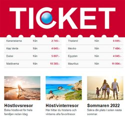 Erbjudanden från Resor i Ticket.se ( 2 dagar kvar)