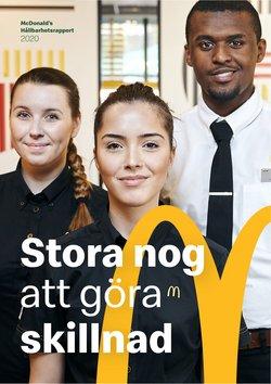 Erbjudanden från Restauranger och Kaféer i McDonald's ( Mer än en månad)