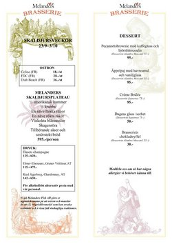 Erbjudanden från Restauranger och Kaféer i Melanders ( 7 dagar kvar)