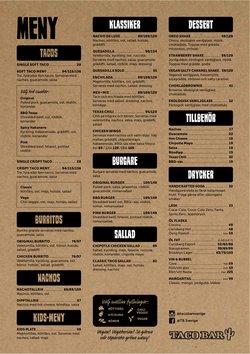 Erbjudanden från Restauranger och Kaféer i Taco Bar ( Mer än en månad)