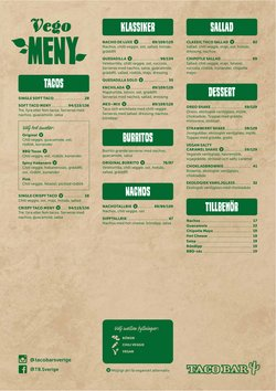 Erbjudanden från Restauranger och Kaféer i Taco Bar ( 7 dagar kvar)