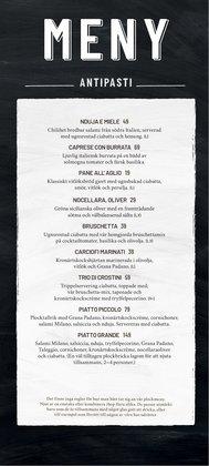 Vapiano-katalog ( Mer än en månad )