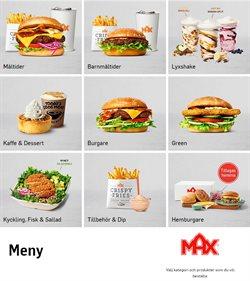 MAX Hamburgare-katalog ( Mer än en månad )