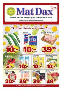 Erbjudanden från Matbutiker i Matdax ( Går ut imorgon)