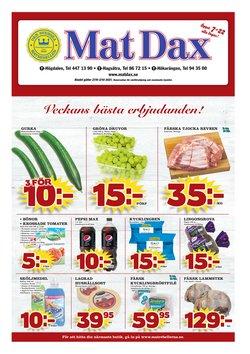 Erbjudanden från Matbutiker i Matdax ( Publicerades idag)
