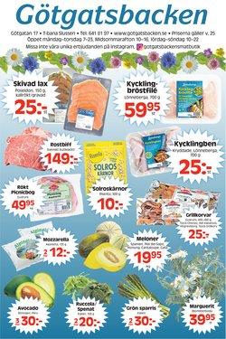 Erbjudanden från Matbutiker i Götgatsbacken ( Publicerades idag)