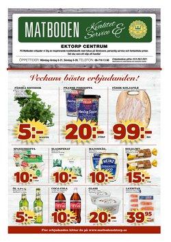 Matboden Ektorp-katalog ( Har gått ut )