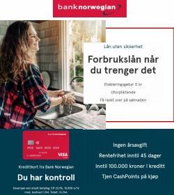 Erbjudanden från Banker i Bank Norwegian ( Mer än en månad)
