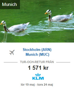 Erbjudanden från MrJet i Stockholm