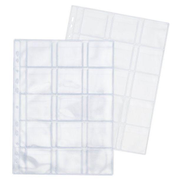 Plastficka 15 fack 55mm 5-pack för 50 kr