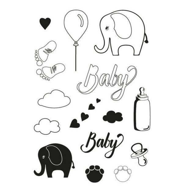 Clear Stamps A6 Baby för 30 kr