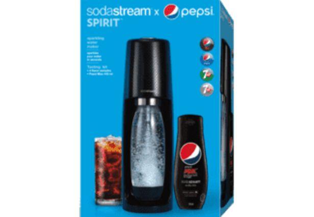 SODASTREAM SodaStream Spirit Black Pepsi Bundle med kolsyrepatron och smakessenser för 999 kr