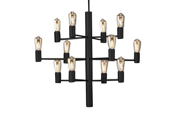 MANOLA Takkrona 60 Dimbar 12 Lampor Svart för 3590 kr