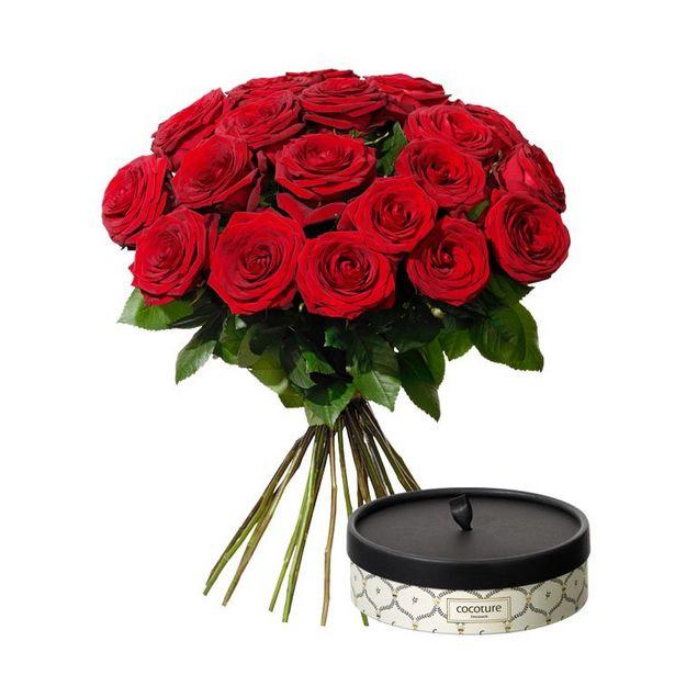 20 rosor med choklad för 1090 kr