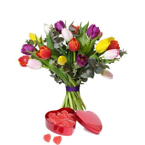 Tulpaner med Geléhjärtan för 345 kr