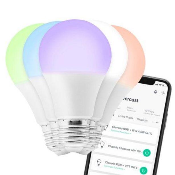 Cleverio Smart E27 RGB LED-lampa 806 lm för 99,9 kr