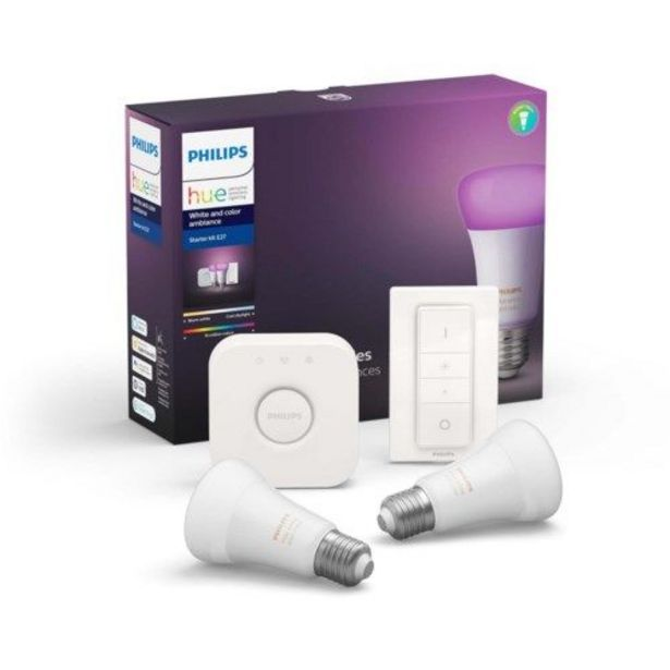 Philips Hue Color Ambiance Startpaket Smarta LED-lampor 2-pack för 1299 kr