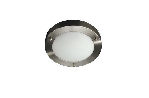 Badrumslampa Philips Treats Led Tak 18cm Ip44 Nickel för 269 kr