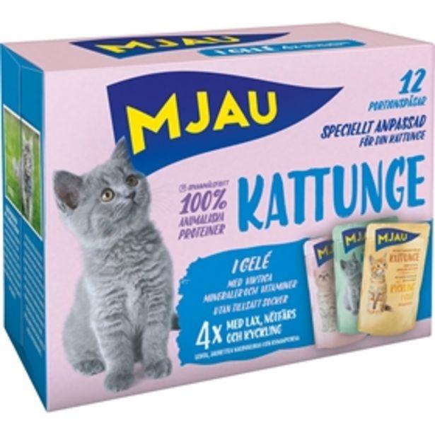Våtfoder Mjau Kattunge för 45 kr