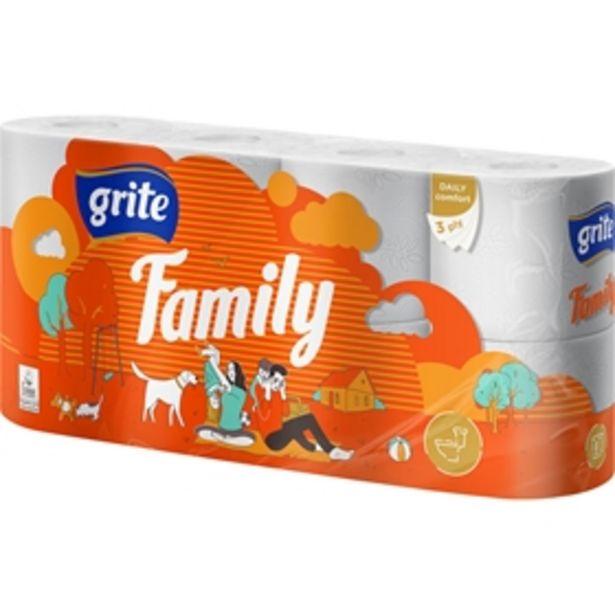 Toalettpapper Grite Family för 25 kr
