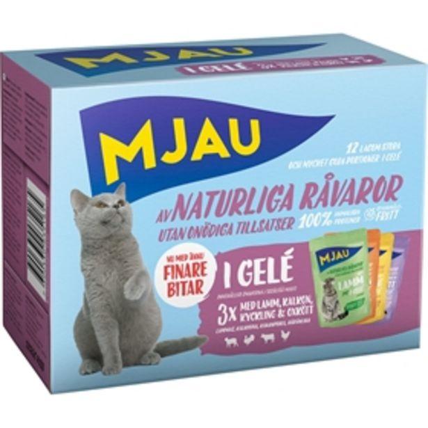 Våtfoder Mjau Multipack Kött i Gelé för 45 kr