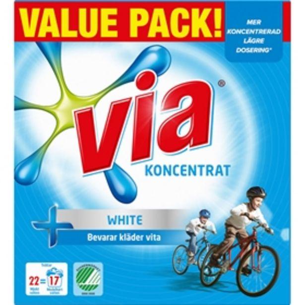 Tvättmedel Via White för 29 kr