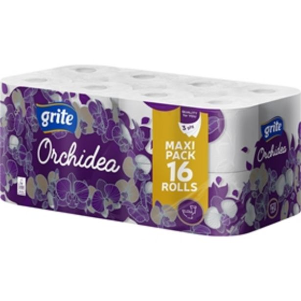 Toalettpapper Grite Orchidea White för 59 kr