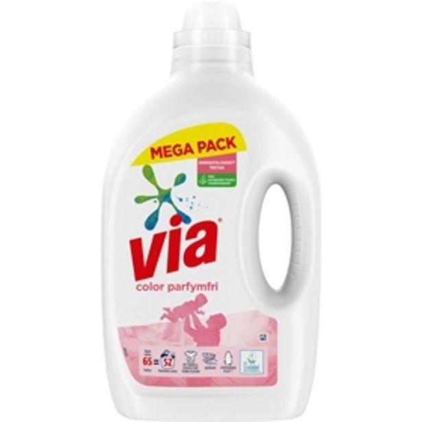 Flytande tvättmedel Via Color Parfymfri för 85 kr