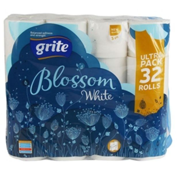 Toalettpapper Grite Blossom White för 99 kr