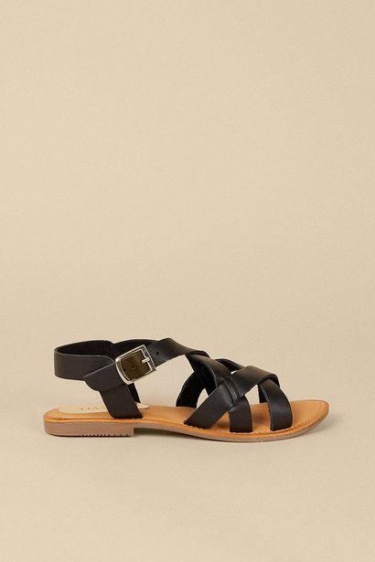 Leather Cross Over Sandal för 36,75 kr