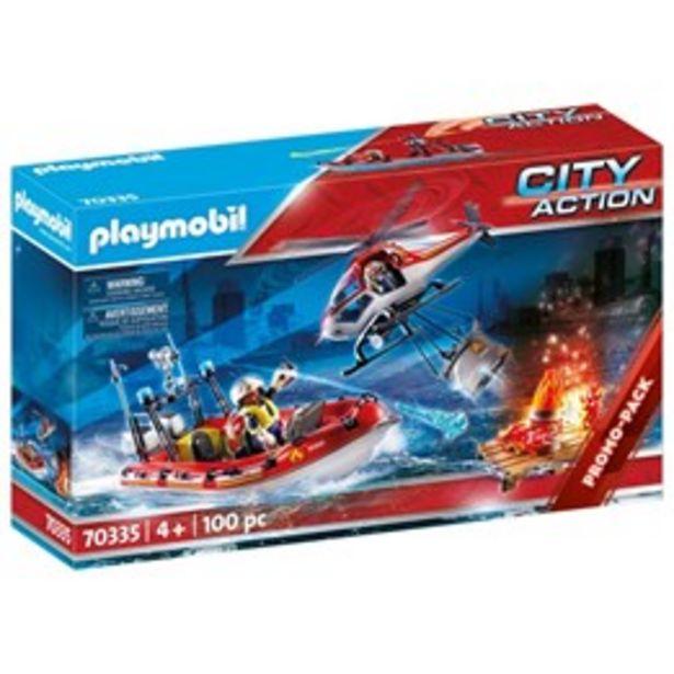 Playmobil City Action 70335, Brandkår med helikopter och båt för 399 kr
