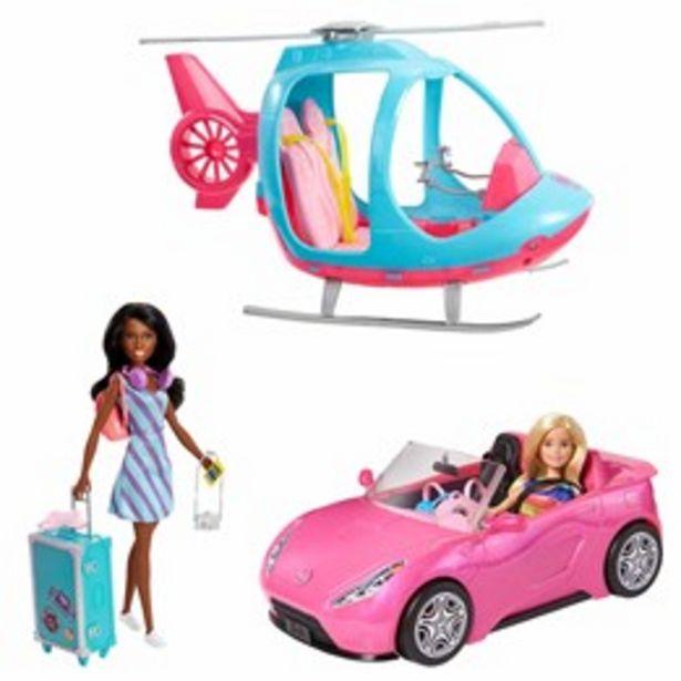 Barbie, Äventyrsset med bil & helikopter för 999 kr