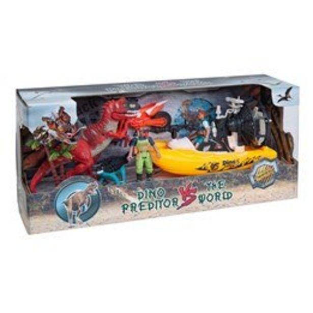 Dino vs World, Lekset med dinosaurier, figurer & båt för 249 kr