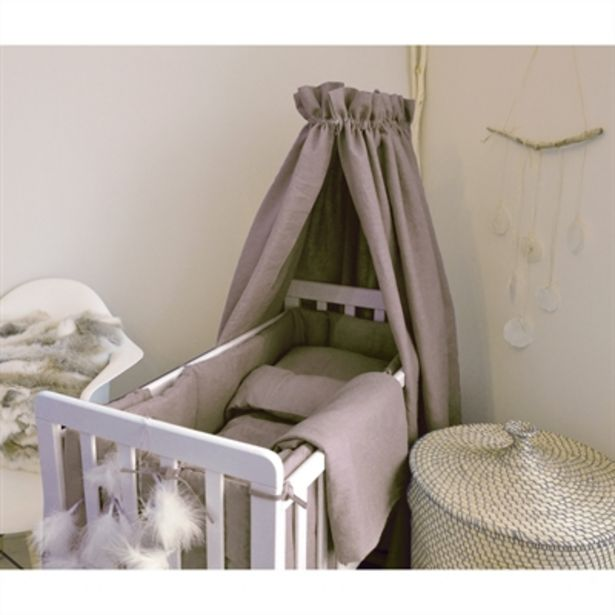 BabyCare Excellent Sänghimmel Linne Grå för 499 kr