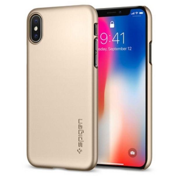 IPhone X 2017 Case Thin Fit - Guld för 49 kr