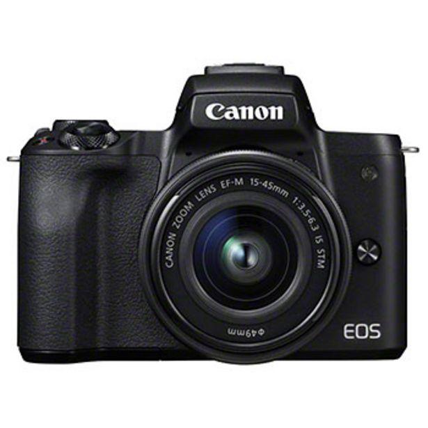 EOS M50 svart kamerahus + EF-M 15-45/3,5-6,3 IS STM + EF-M 22/2 STM för 7390 kr