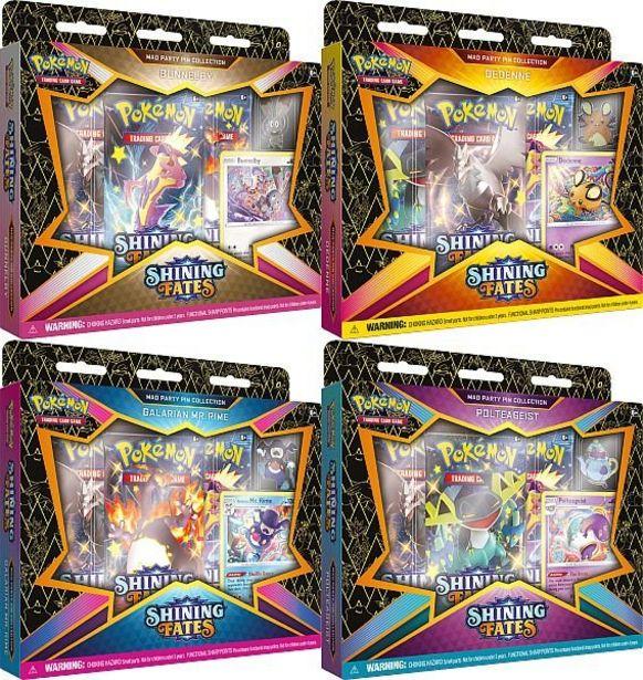 Pokemon Sword & Shield 4.5: Shining Fates Mad Party Pin Box för 249 kr