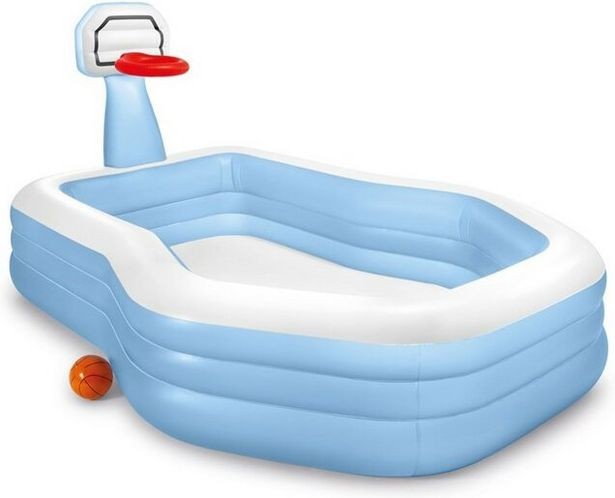 INTEX Swim Center Shootin' Hoops Family Pool 257x188x130cm (682L) för 399 kr
