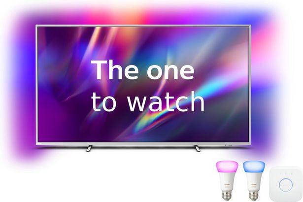 """Philips 2020 70"""" The One 70PUS8505 med Hue startpaket - Ambilight / 4K UHD / Android TV för 10490 kr"""