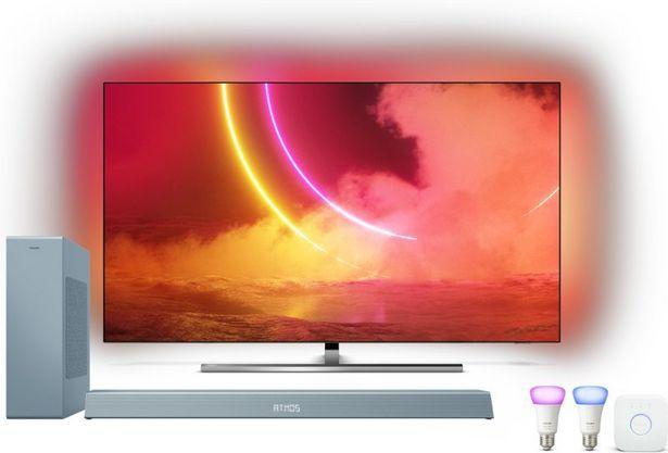 """Philips 55"""" 55OLED855 - OLED / 4K UHD / Smart TV med Hue startpaket & B8505 Soundbar för 17990 kr"""
