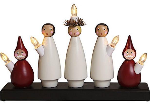 Adventsljusstake Star Trading, luciakör med 5 lampor för 399 kr